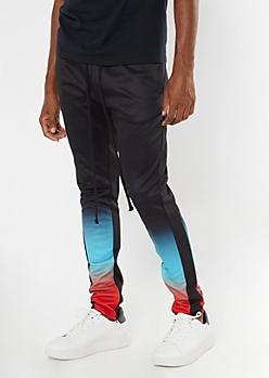 Black Ombre Track Pants