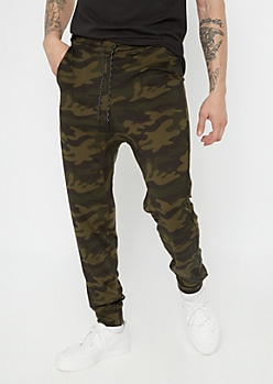 Camo Print Tech Pocket Active Joggers