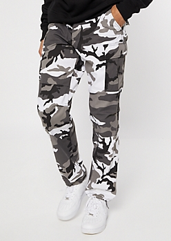 Rothco Black Camo Print Tactical Cargo Pants