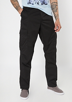 Rothcho Black Cushioned Cargo Pants