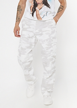 Rothco White Camo Print Tactical Cargo Pants