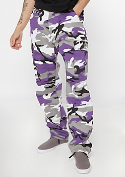 Rothco Purple Camo Print Tactical Cargo Pants