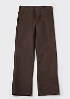Dark Brown Dickies Original 874 Work Pants