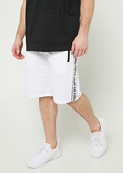 Young and Funded White Knit Shorts