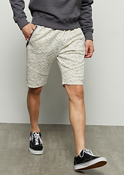 White Space Dye Reflective Fleece Shorts
