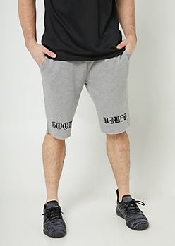 Heather Gray Good Vibes Knit Shorts