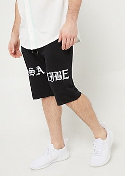Black Issa Vibe Knit Shorts