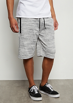 Gray Space Tie Tech Pocket Active Shorts