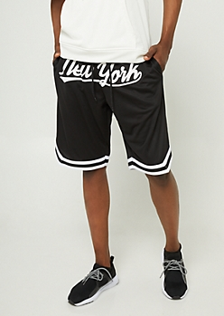 Black Mesh New York Shorts