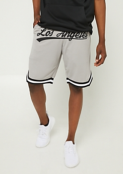 Gray Mesh Los Angeles Shorts