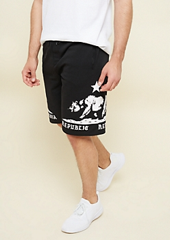 Black California Republic Knit Active Shorts