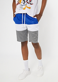 Navy Colorblock Active Tricot Shorts