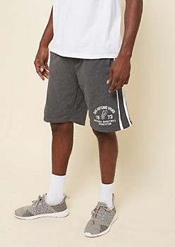 Dark Gray Ribbed San Antonio Spurs Shorts