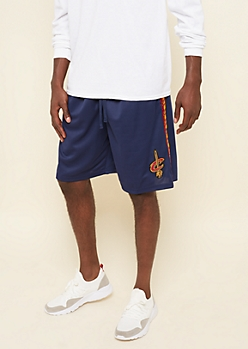Navy Mesh Cleveland Cavaliers Patch Athletic Shorts