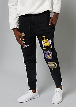 NFL Los Angeles Lakers Black Patch Joggers