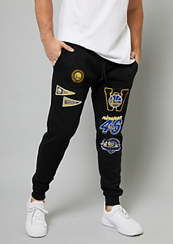 NBA Golden State Warriors Black Patch Joggers