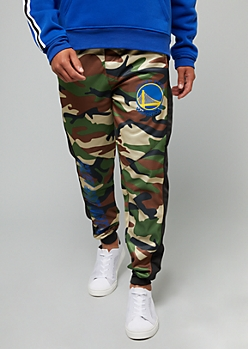 NBA Golden State Warriors Camo Print Fleece Joggers