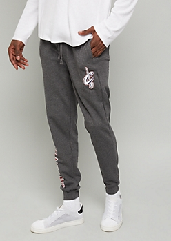 NBA Cleveland Cavaliers Gray Block Team Graphic Joggers