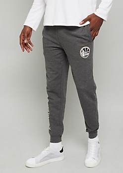 NBA Golden State Warriors Gray Block Team Graphic Joggers