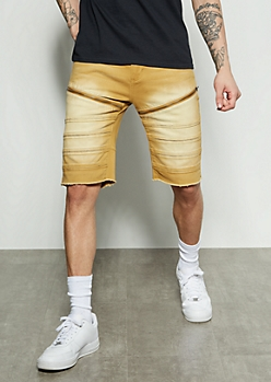Flex Gold Moto Zippered Twill Shorts