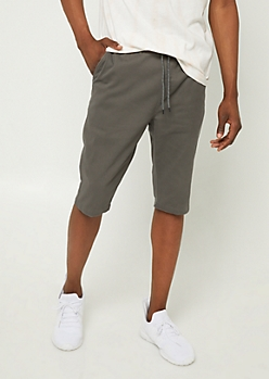 Charcoal Gray Twill Shorts