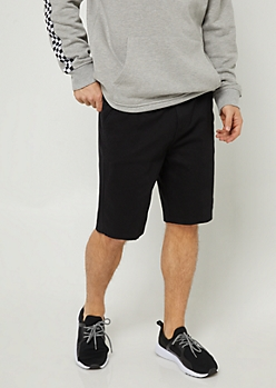 Black Essential Twill Shorts
