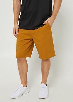 Camel Essential Twill Shorts