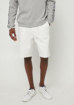 White Essential Twill Shorts