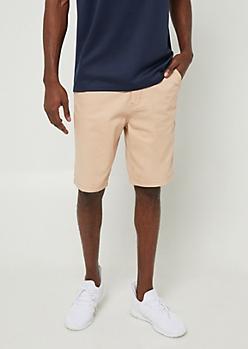Khaki Essential Twill Shorts