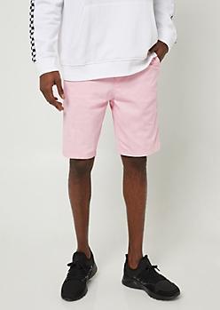 Pink Essential Twill Shorts