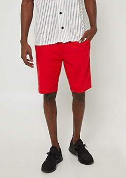 Red Essential Twill Shorts