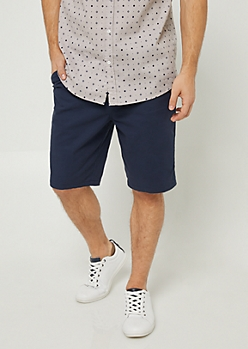 Navy Essential Twill Shorts