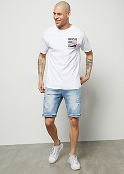 Flex Light Wash Soft Cuffed Jean Shorts