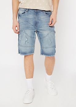 Supreme Flex Light Wash Carpenter Jean Shorts