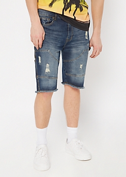 Supreme Flex Dark Wash Carpenter Jean Shorts