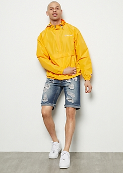 Flex Dark Wash Ripped Repaired Jean Shorts