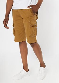 Camel Cargo Shorts