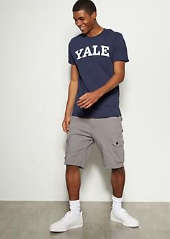 Gray Twill Cargo Shorts