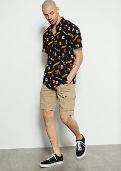 Flex Khaki Twill Cargo Shorts