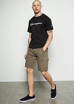 Flex Olive Twill Cargo Shorts