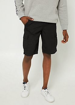 Black Classic Cargo Shorts