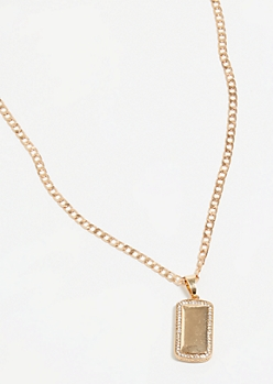 Gold Geometric Chain Necklace
