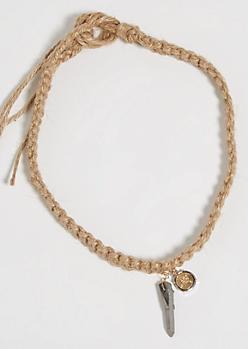 Hemp Crystal & Compass Necklace