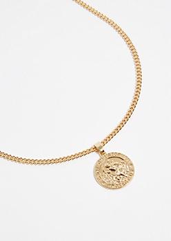 Gold Saint Christopher Pendant Necklace