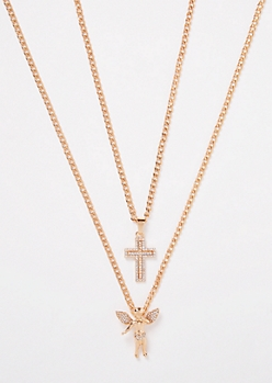 Gold Cross Chain Necklace