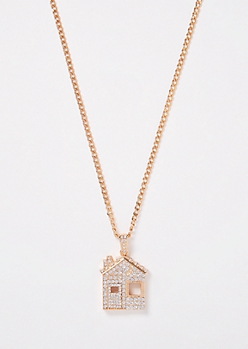 Gold House Chain Necklace