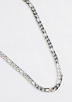 Silver Medium Figaro Chain Necklace