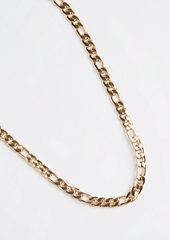 Golden Medium Figaro Chain Necklace