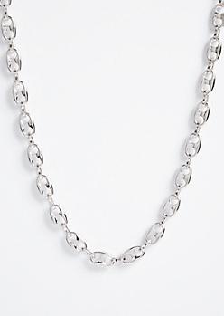 Silver Gemstone Soda Tab Chain