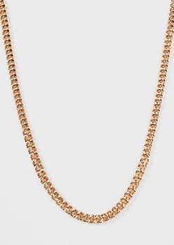 Gold Stamped Chain Necklace